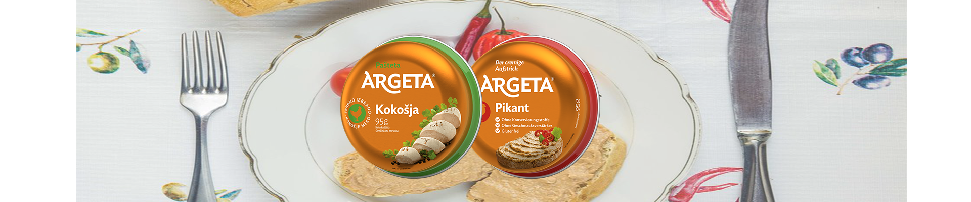 New! Chicken Argeta pate and Argeta pate spicy!