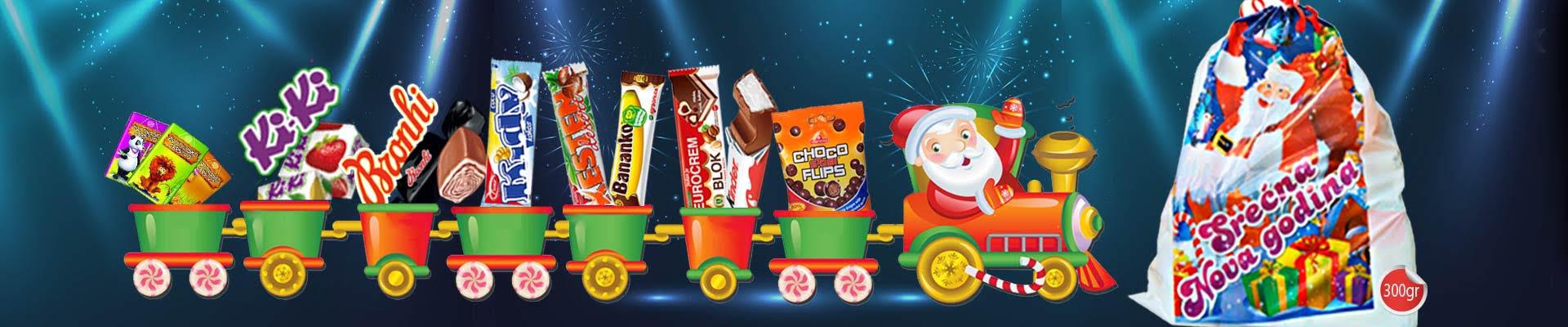 Praznici su tu! Uz svaki paket preko 99$, poklon novogodišnji paketić slatkiša!